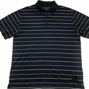 Nike Golf Dri-Fit Men's Navy Striped Golf Shirt